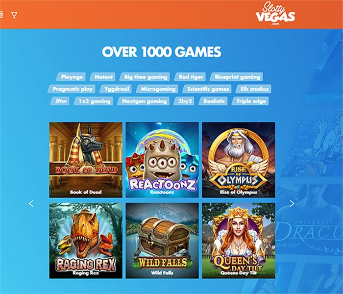 slotty vegas casino games