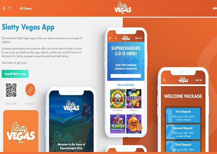 slotty vegas casino mobile app